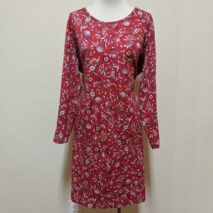 Lands end midi floral dress long shirt 1x